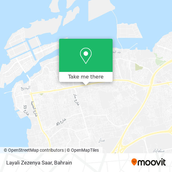 Layali Zezenya Saar map