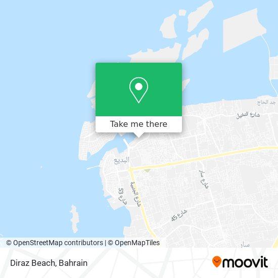 Diraz Beach map