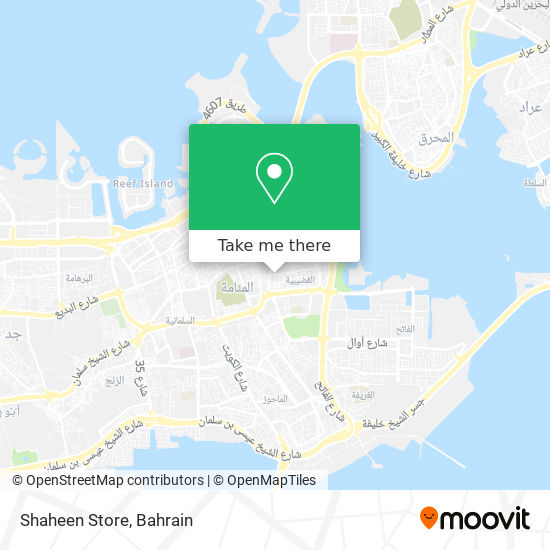 Shaheen Store map