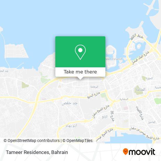 Tameer Residences map