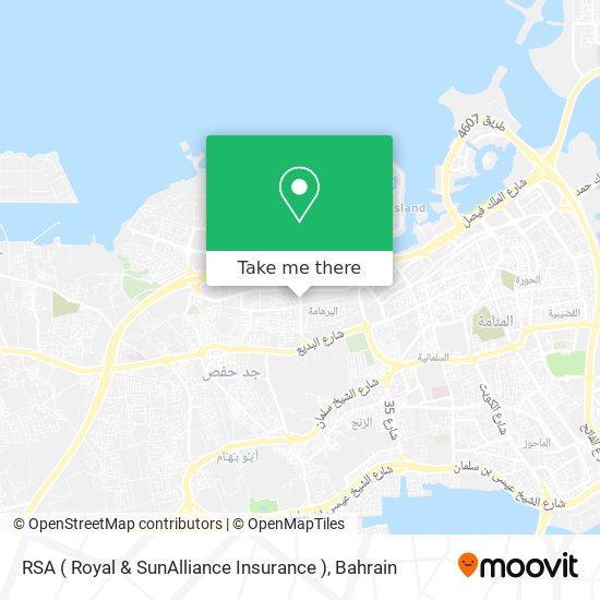 RSA ( Royal & SunAlliance Insurance ) map