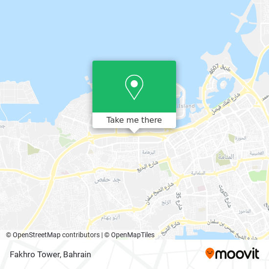 Fakhro Tower map
