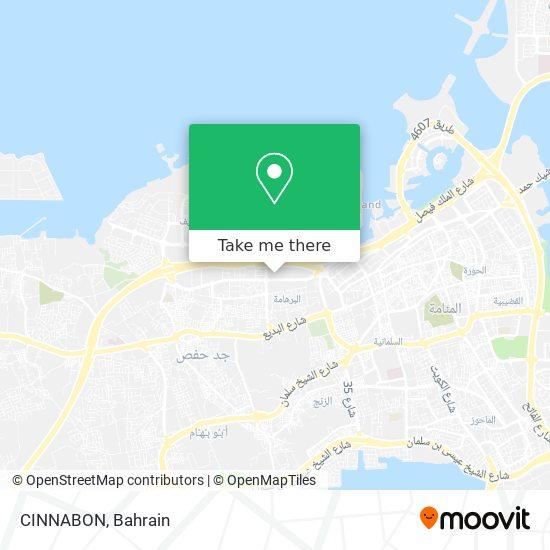 CINNABON map