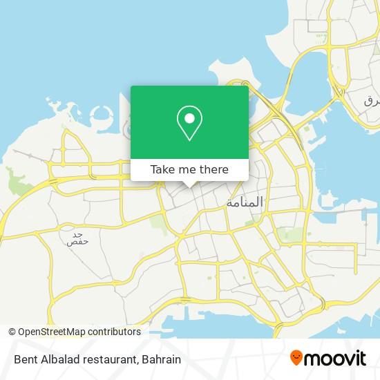 Bent Albalad restaurant map