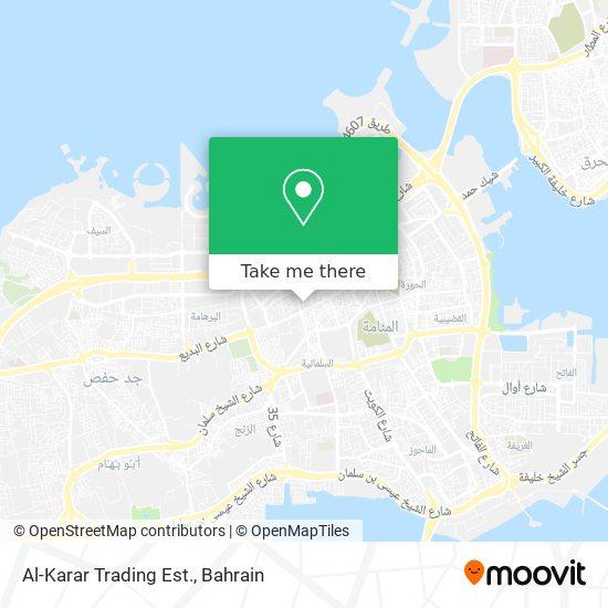 Al-Karar Trading Est. map