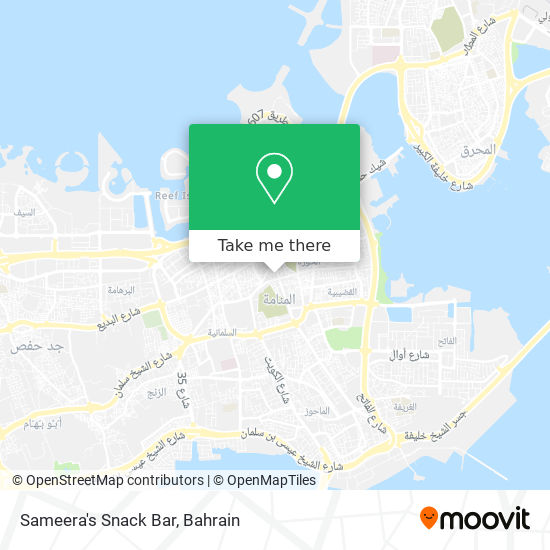 Sameera's Snack Bar map