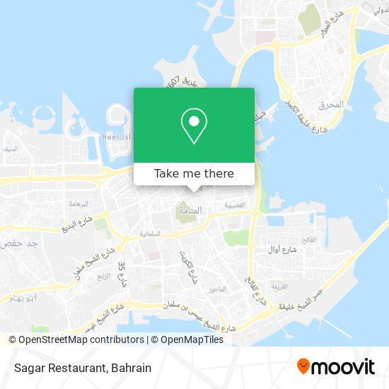 Sagar Restaurant map