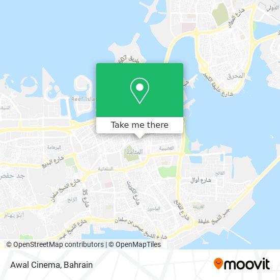 Awal Cinema map