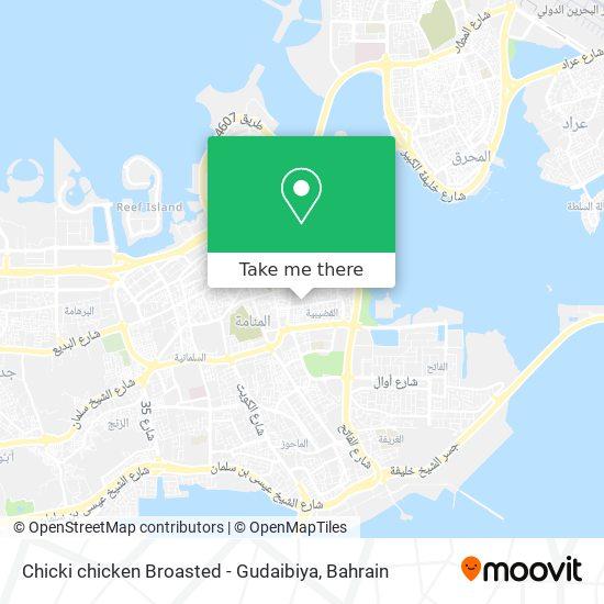 Chicki chicken Broasted - Gudaibiya map