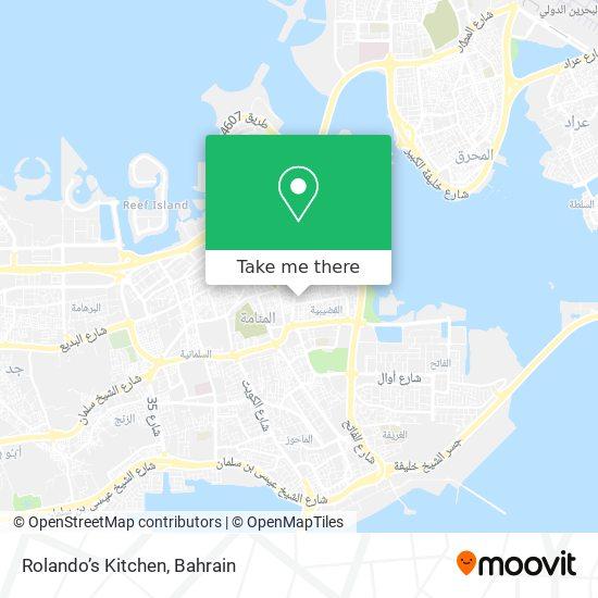 Rolando's Kitchen map