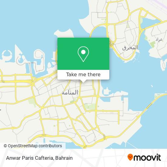 Anwar Paris Cafteria map