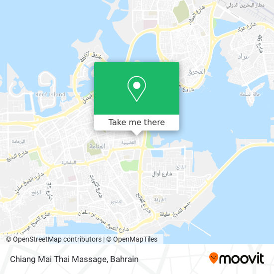 Chiang Mai Thai Massage map