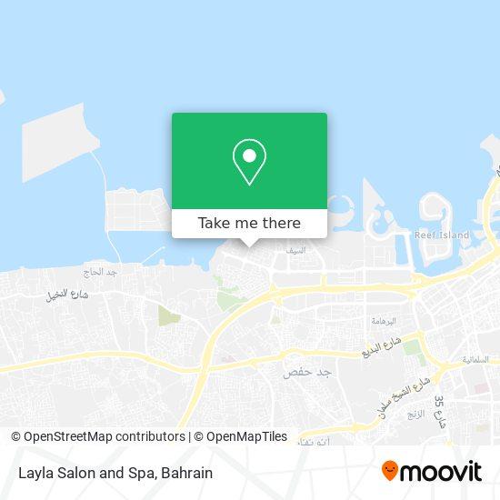Layla Salon and Spa map