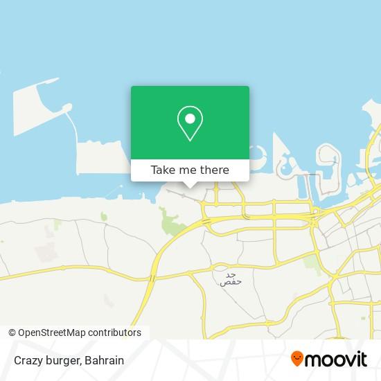 Crazy burger map