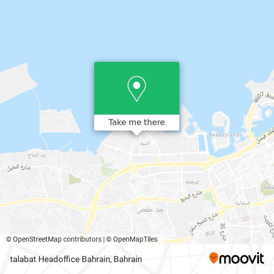 talabat Headoffice Bahrain map
