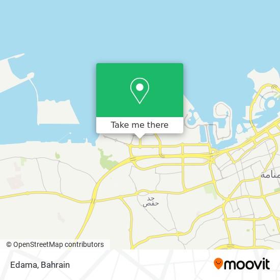 Edama map