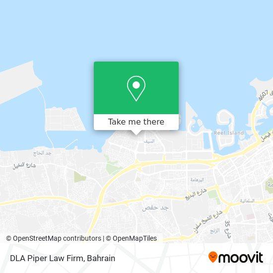DLA Piper Law Firm map