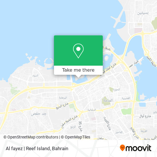 Al fayez   Reef Island map
