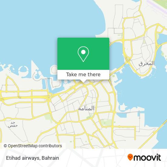 Etihad airways map