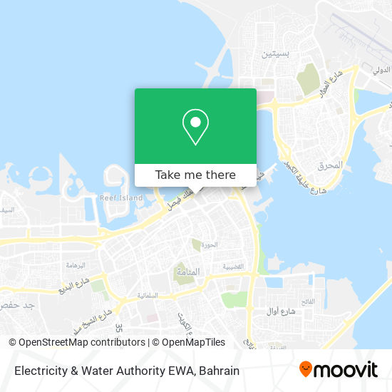 Electricity & Water Authority EWA map