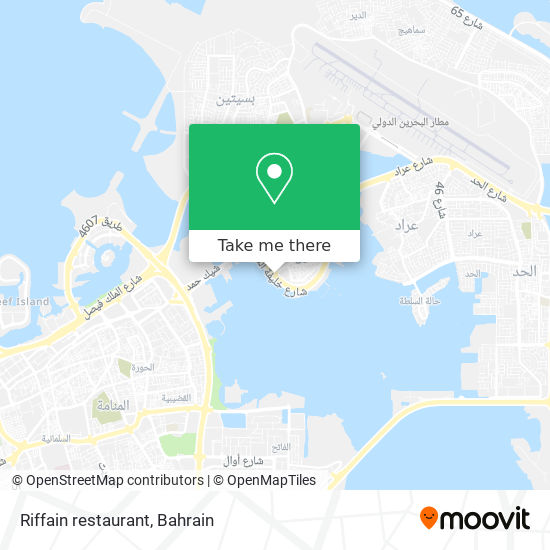 Riffain restaurant map