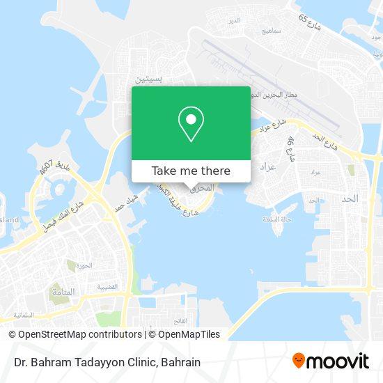 Dr. Bahram Tadayyon Clinic map