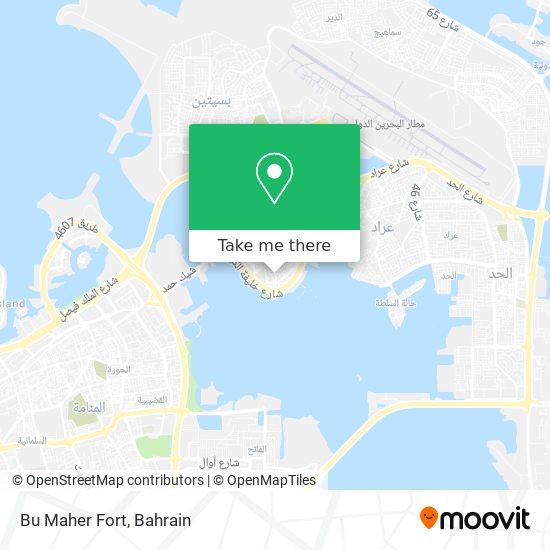 Bu Maher Fort map