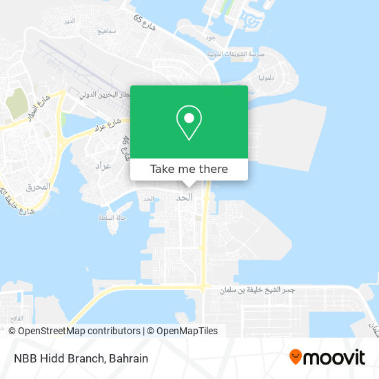 NBB Hidd Branch map