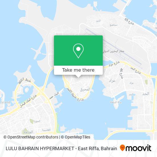 LULU BAHRAIN HYPERMARKET - East Riffa map