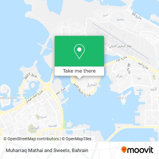 Muharraq Mathai and Sweets map