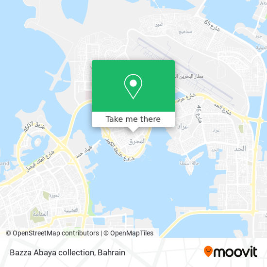 Bazza Abaya collection map