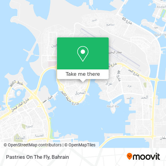 Pastries On The Fly map