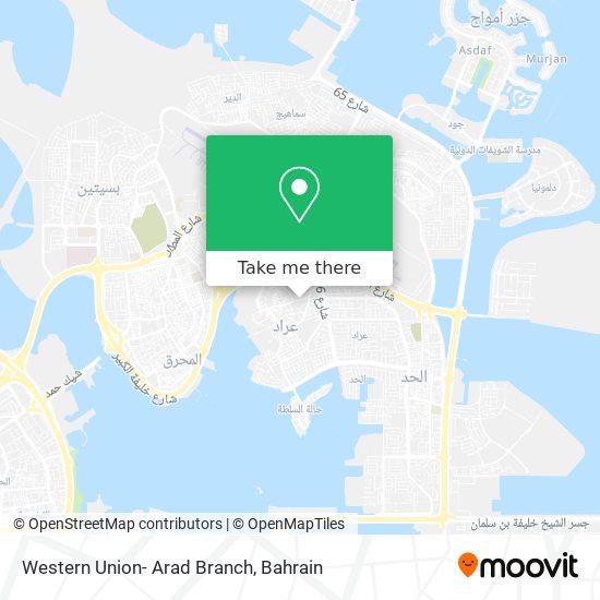 Western Union- Arad Branch map