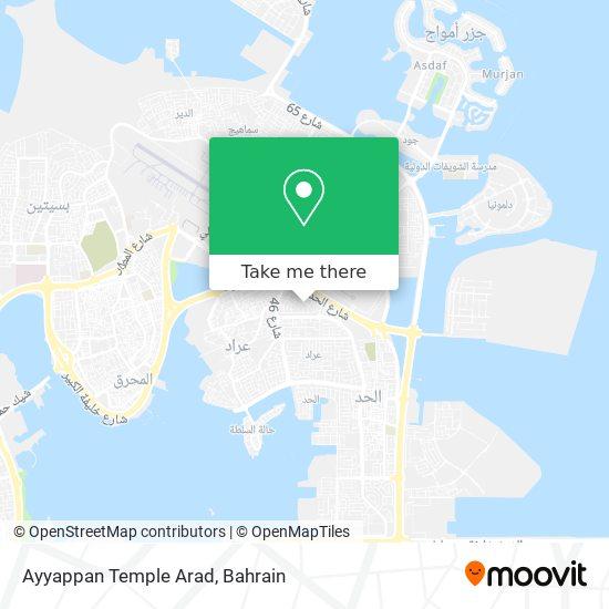 Ayyappan Temple Arad map
