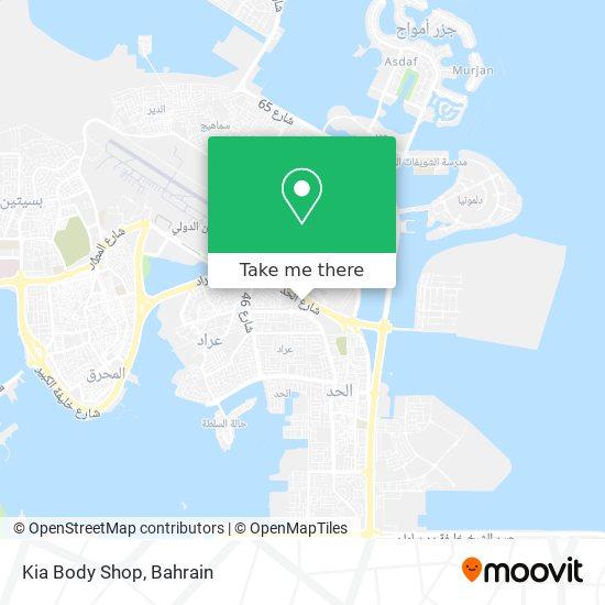 Kia Body Shop map