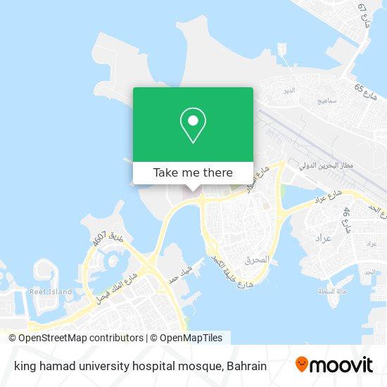 king hamad university hospital mosque map