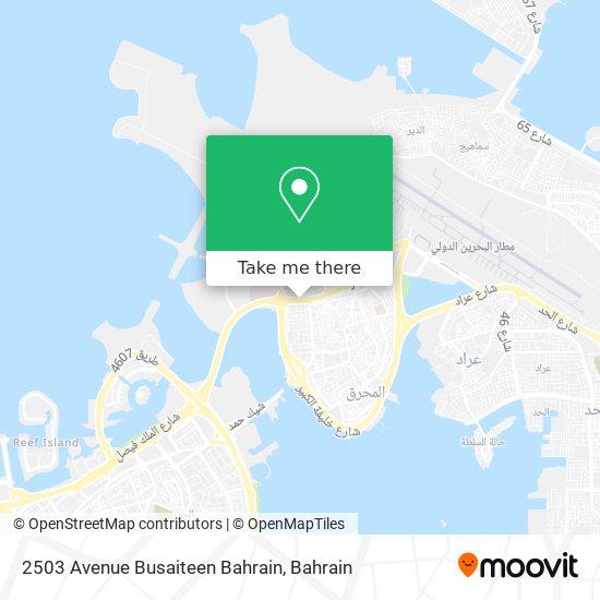 2503 Avenue Busaiteen Bahrain map