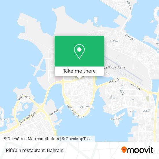 Rifa'ain restaurant map