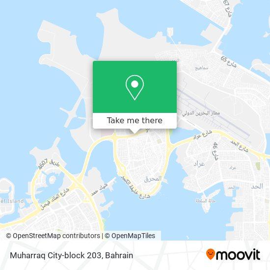 Muharraq City-block 203 map