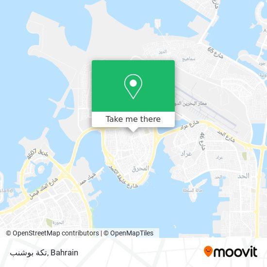 تكة بوشنب map