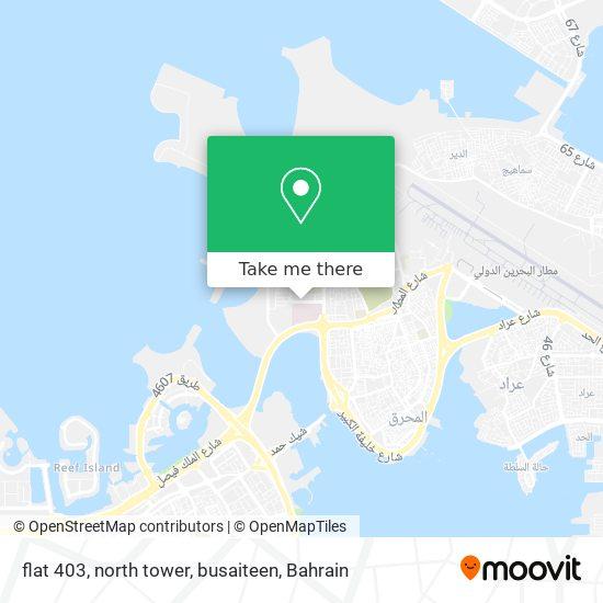 flat 403, north tower, busaiteen map
