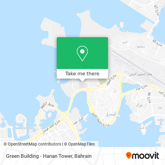 Green Building - Hanan Tower map