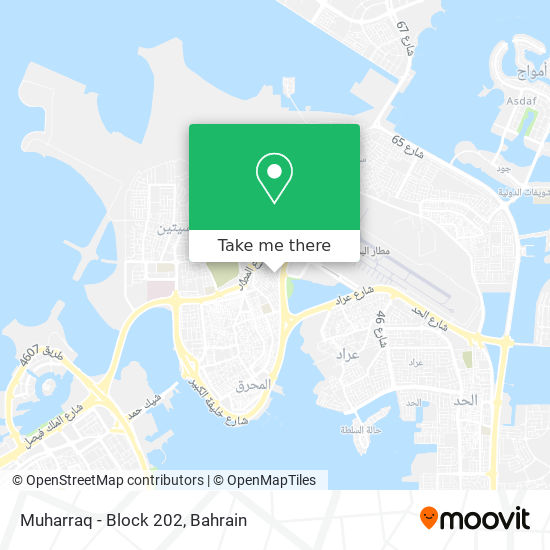 Muharraq - Block 202 map