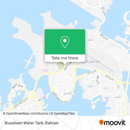 Busaiteen Water Tank map