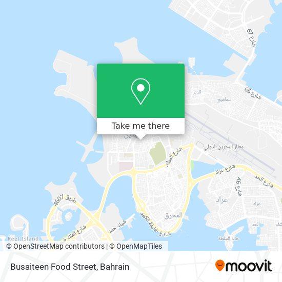 Busaiteen Food Street map