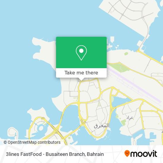 3lines FastFood - Busaiteen Branch map