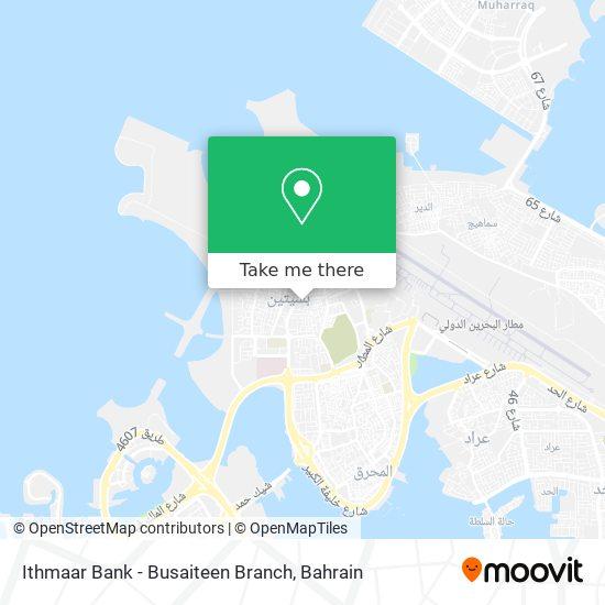 Ithmaar Bank - Busaiteen Branch map