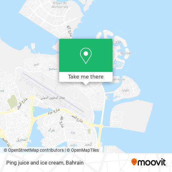 Ping juice and ice cream map