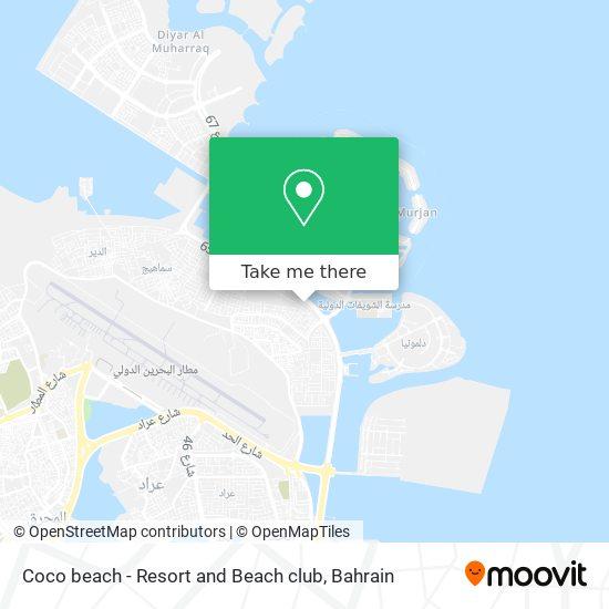 Coco beach - Resort and Beach club map