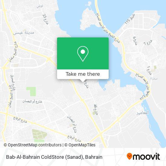 Bab-Al-Bahrain ColdStore (Sanad) map